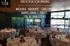 Function room wedding pic